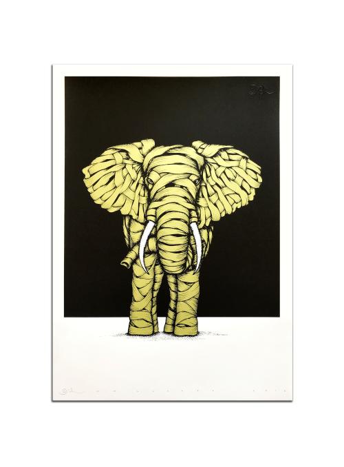 Ribboned Elephant Gold Edition