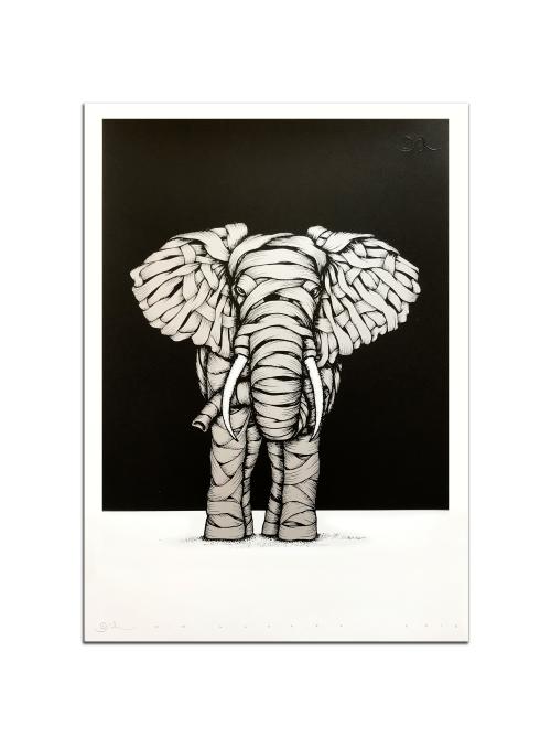Ribboned Elephant Silver Edition