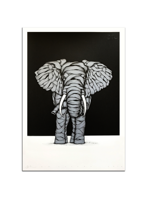Ribboned Elephant Grey Edition