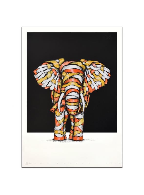 Ribboned Elephant Grey Edition