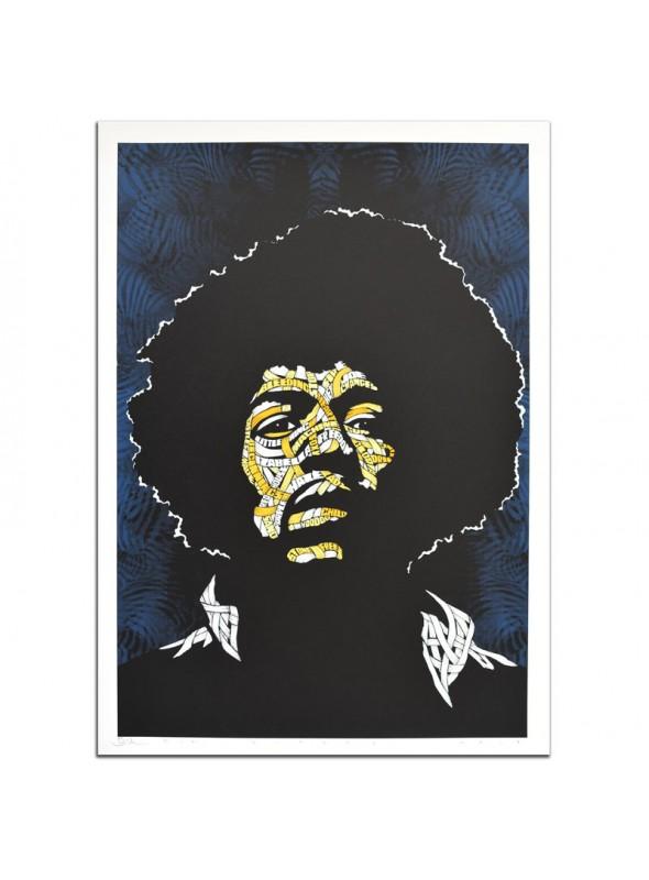 Jimi Hendrix Yellow Orange