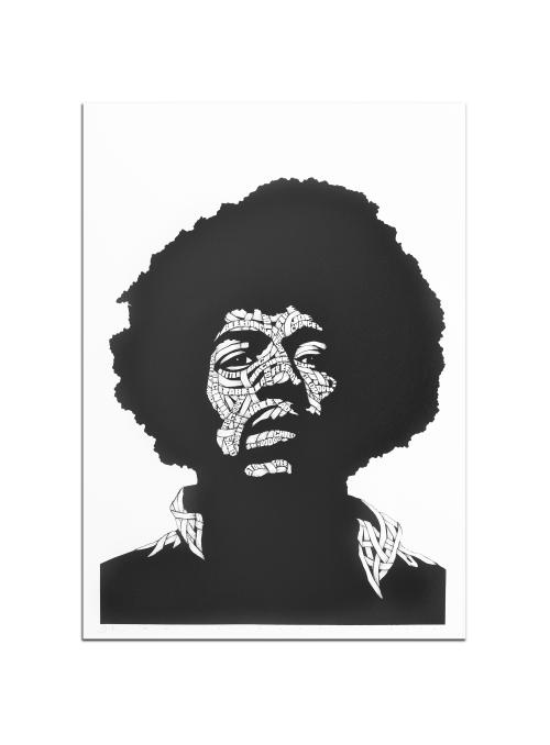 Jimi Hendrix Black&White